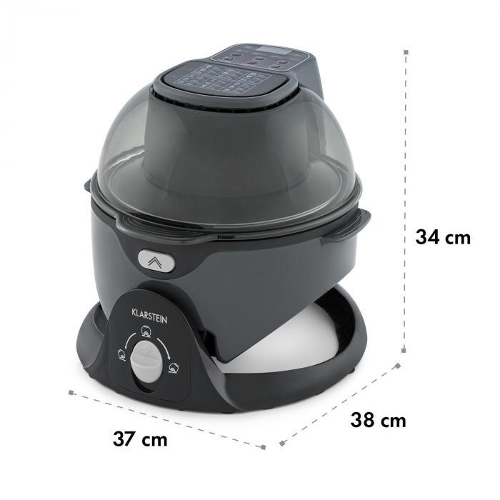 VitAir Swing kuumailmakeitin 1400 W 50-240 °C ajastin musta