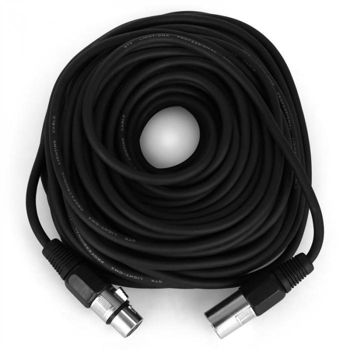 DMX-Kabel 3-polig - 20 Meter, Ø 4mm