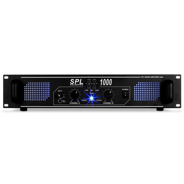 SPL1000 DJ PA Verstärker Audio LED 2800W Equalizer