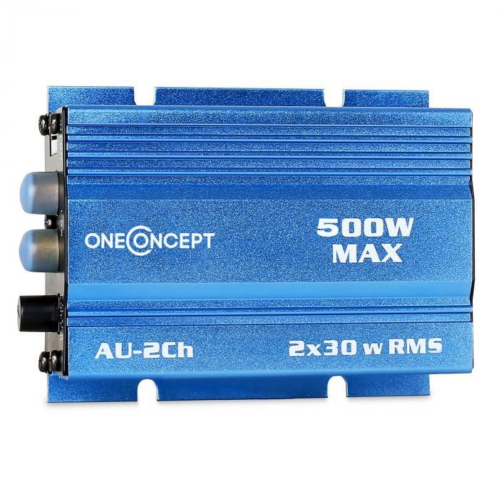"""Car Hifi Conjunto""""Potsdam"""" Sistema de Som 2.0 Mini Amp & Altifalantes LED 600W"""