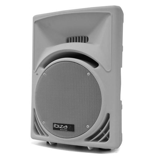 """DJ PA Aktivbox 30cm (12"""") 1100W ABS weiss Flansch"""