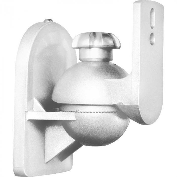 SB-28 Supporto Casse Universale Set 8pz.Bianco <3,5kgCinema in casa HiFi