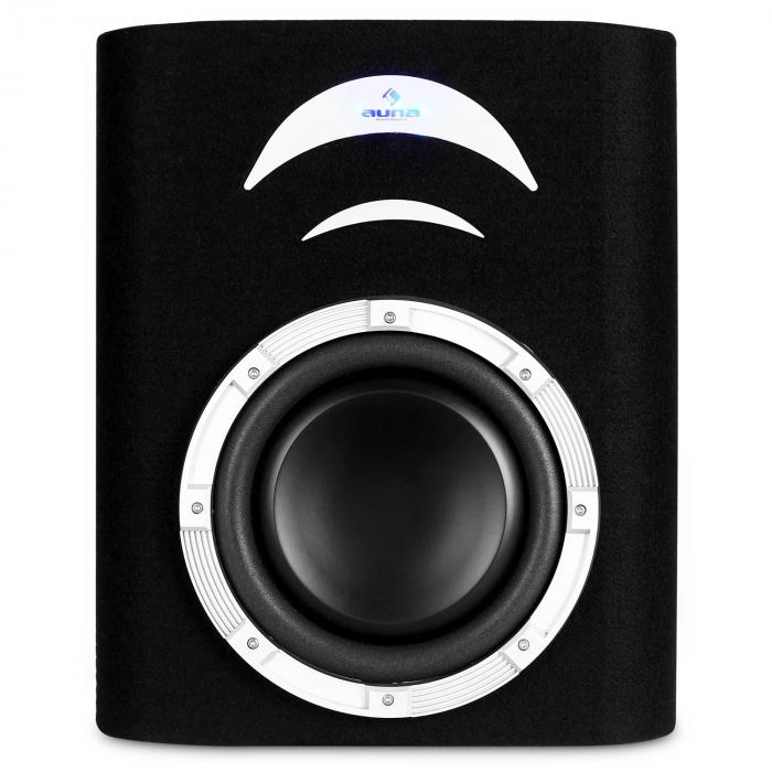 "subwoofer auto bass car 500W extra piatto 10"" led"