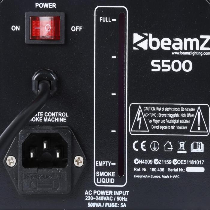 S500 macchina del fumo 500W 50m³ Con Fluido Nebbia