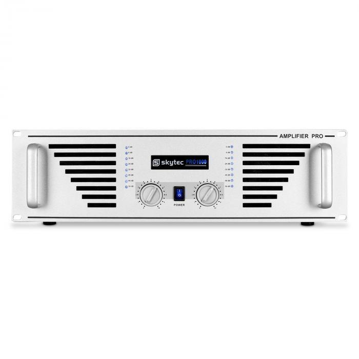 AMP-1000 Amplificatore 1600W argento