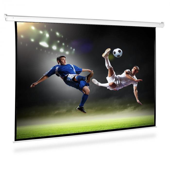 Motorisoitu valkokangas projektori HDTV 240x180cm 4:3