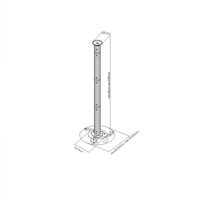 Universal projektorin kattokiinnike Halter Arm PRB-3