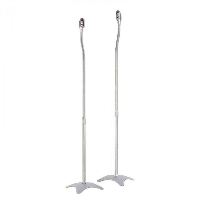 2 Pairs Of Silver Speaker Stands - Universal For Satellite Speakers