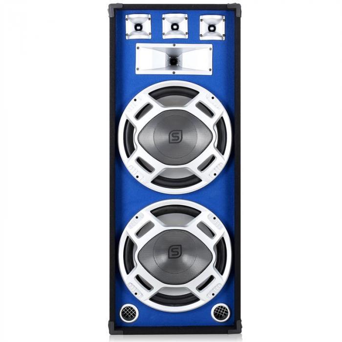 Cassa 38 cm con subwoofer LED blu 1000W