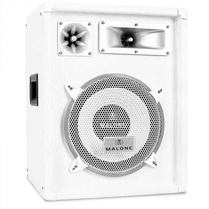 "DJ PA System ""Greenland Deluxe"" White Star Series - Speakers & Amplifier Set"