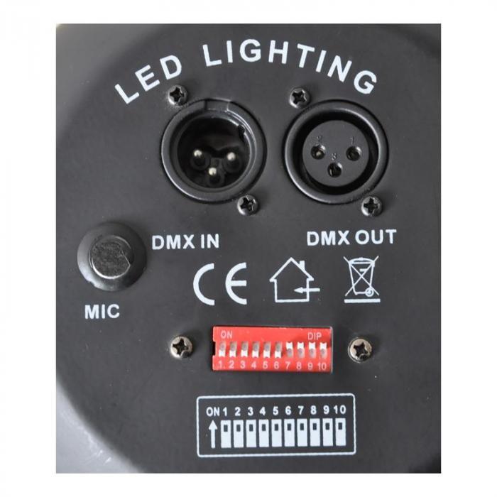 LBL-64LED LED-mustavalo DMX-ohjauksella