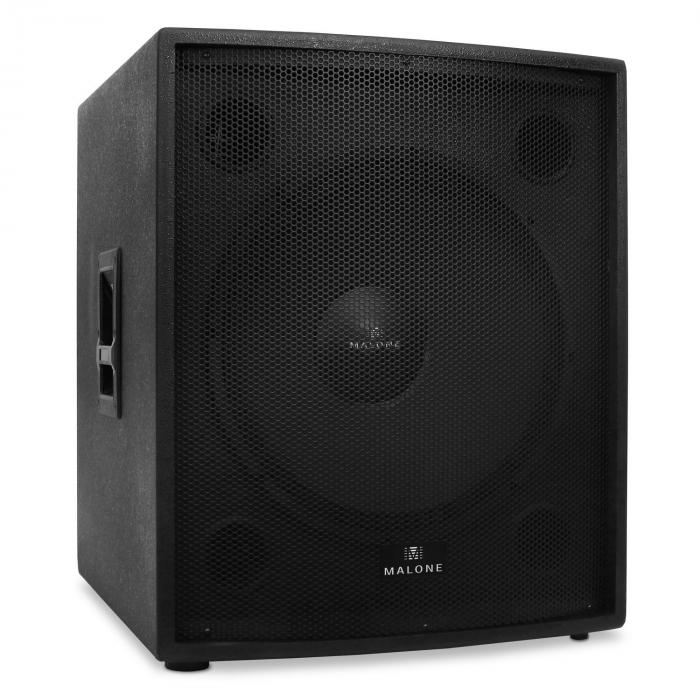 "2500W Pair Malone Passive PA Speakers 18""DJ Party Equipment"