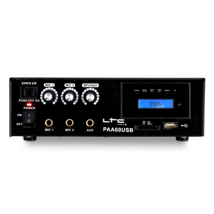 PAA60USB amplificatore USB-MP3 microfono 12V