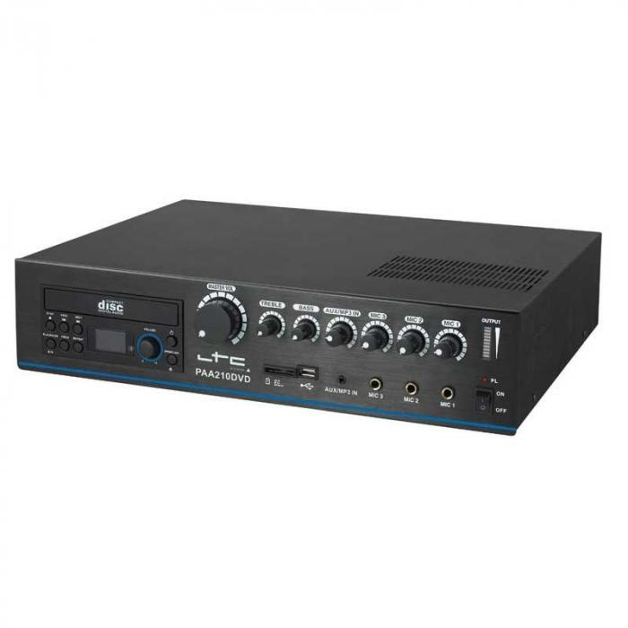 Amplificador PA LTC PAA210CD Leitor de CD USB-MP3 24V