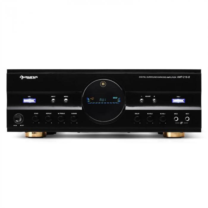 AMP-218 5.1-Receiver 600W max. Design-Blende schwarz