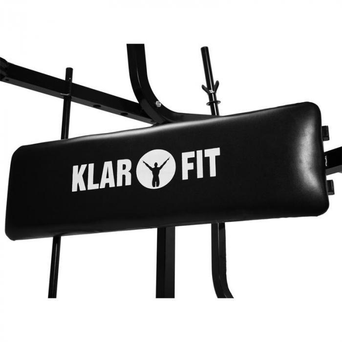 Workout Hero harjoituspenkki painotasolla käsi-ja jalkalaite 160kg musta