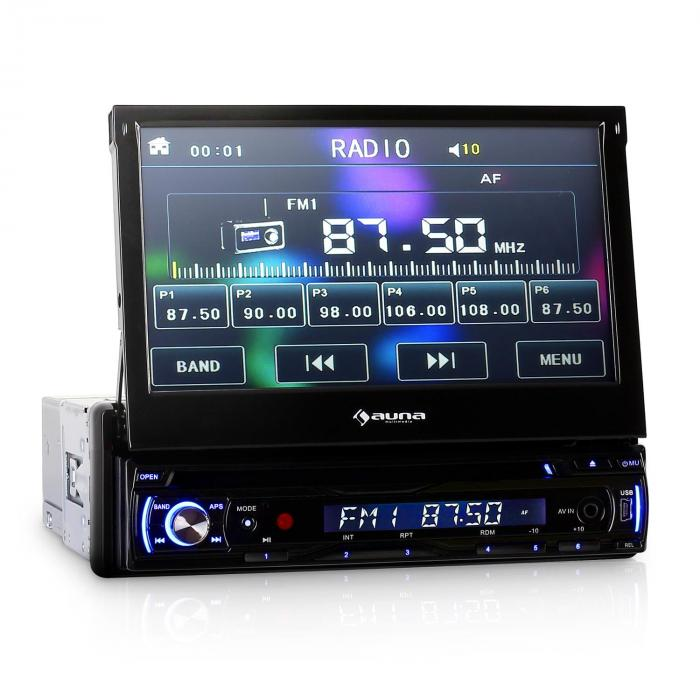 "DTA90 In-Car DVD Player Stereo Radio 7"" LCD Screen 8000W max."