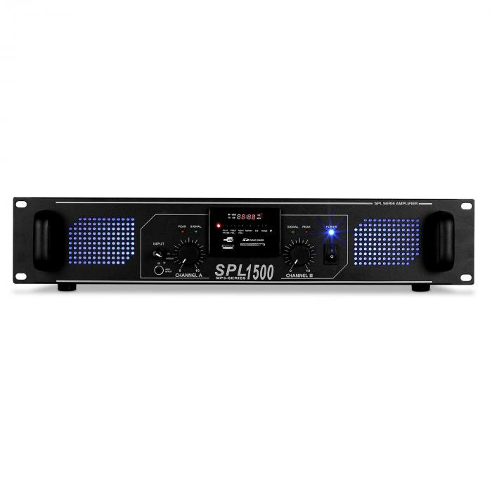 SPL-1500 Watt DJ PA Hifi Amplifier SD USB MP3 System