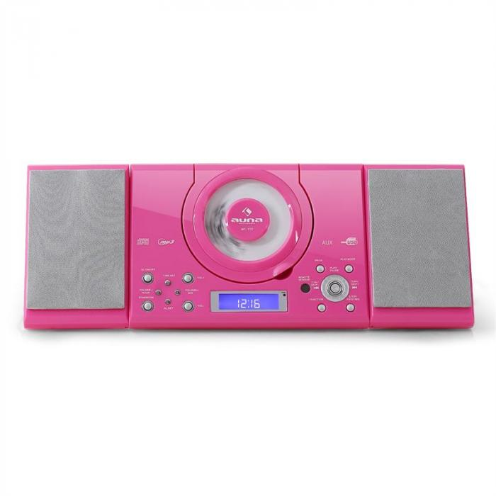 MC-120 Impianto Stereo lettore CD MP3 USB Rosa