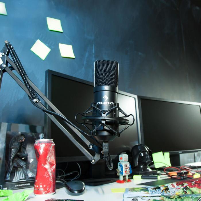 MIC-900B microfono a condensatore da studio USB nero