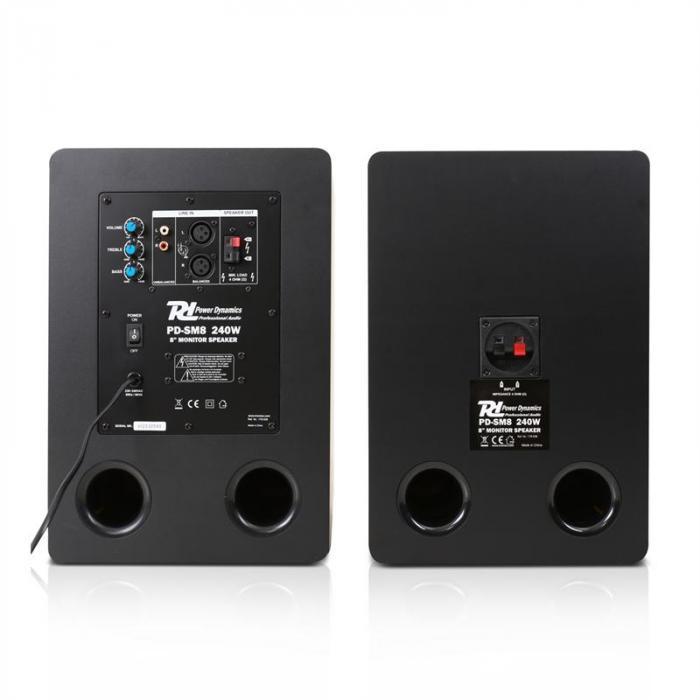 "PDSM8 aktiivistudiomonitorit 20 cm (8"") 240W"