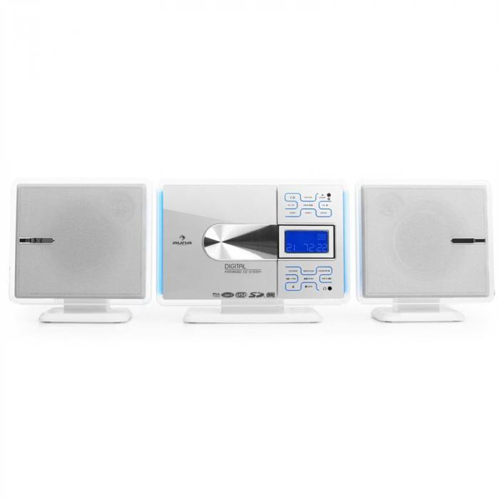 VCP-191 Cadena estéreo MP3 CD USB SD Blanco