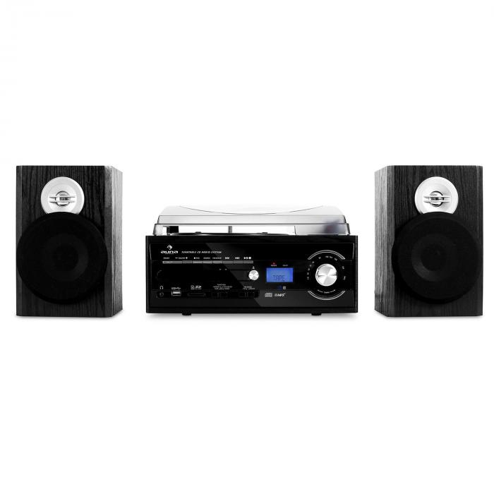 TT-190 Stereot MP3-tallentavalla levysoittimella