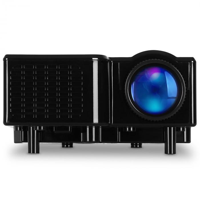 LCDP Projektor LED Mini-Beamer VGA AV Schwarz
