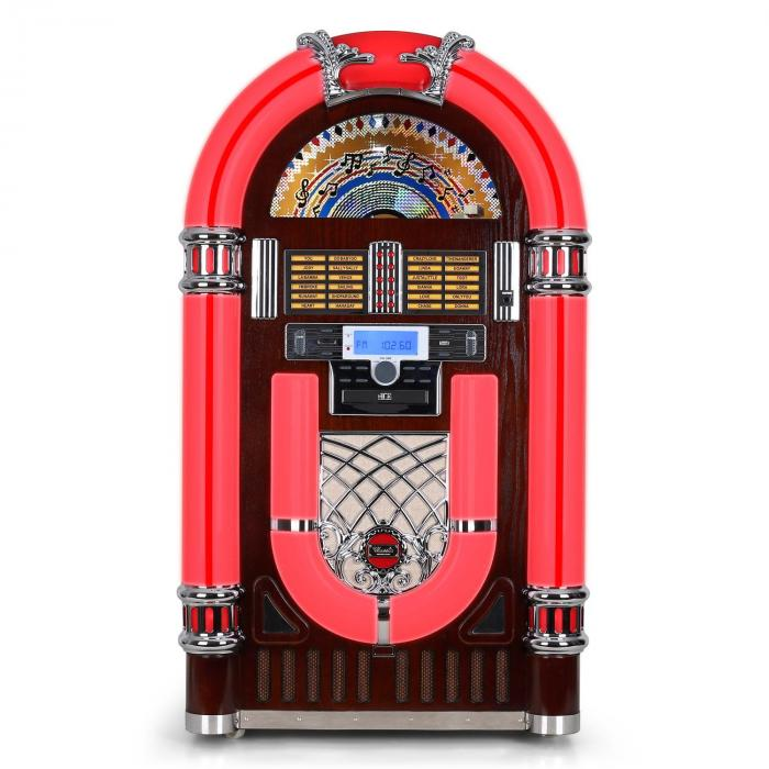 Audiola JB 3710TT Jukebox Giradischi USB SD CD