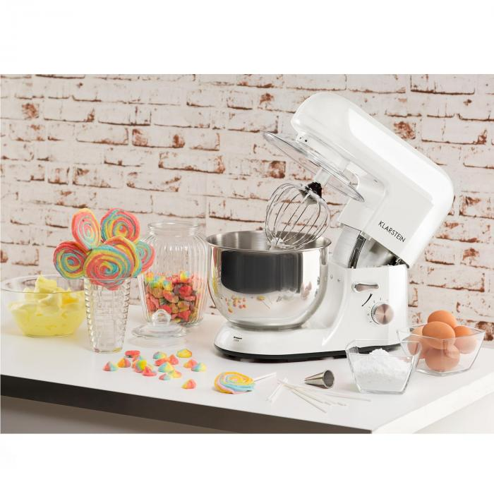 Bella Bianca Kitchen Machine Stand Mixer 1200W 5 Litre White