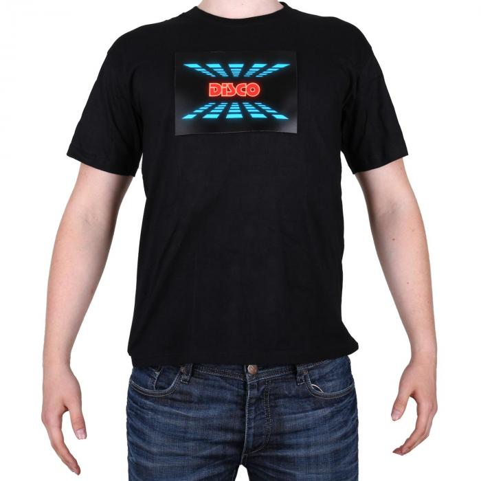 T-Shirt LED 3-Farben Disco Design Größe L