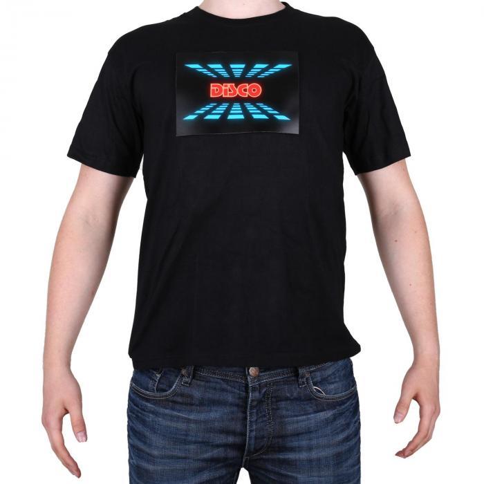 LED T-paita kolmivärinen, Disco design, koko L