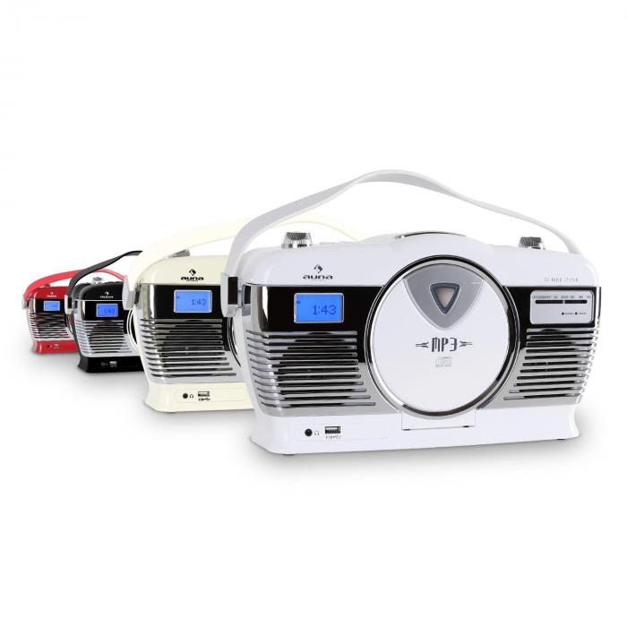 RCD-70 Retroradio UKW USB CD Batterie rot