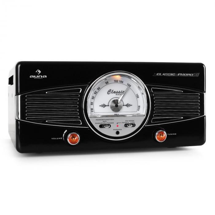 MG-TT-82B levysoitin, FM, 50-luvun retrotyyli, musta
