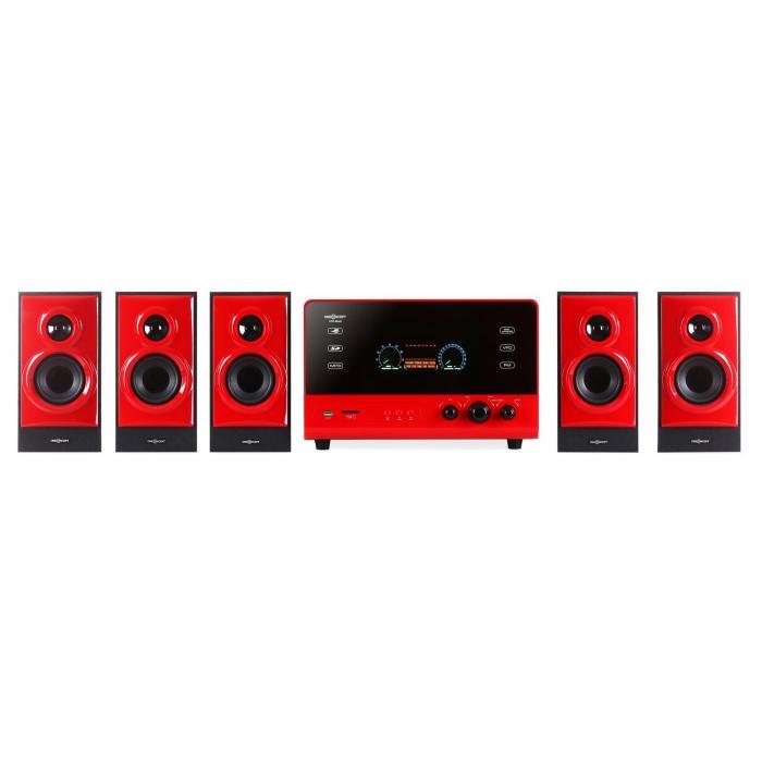 V51 aktives 5.1 Surround-Audiosystem 70W RMS USB SD AUX UKW FB