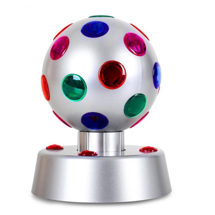 Disco-Ball-4-S effetto LED argento 13,5cm