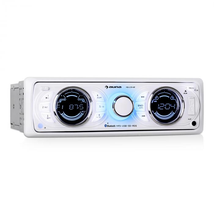 MD-170-BT autoradio MP3 USB bianca