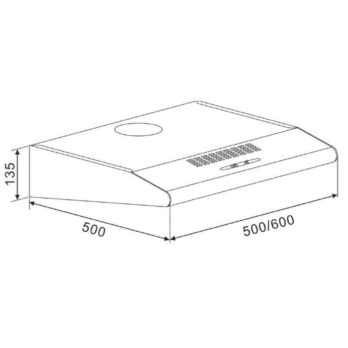 UW60SR cappa di aspirazione 60 cm Classe E