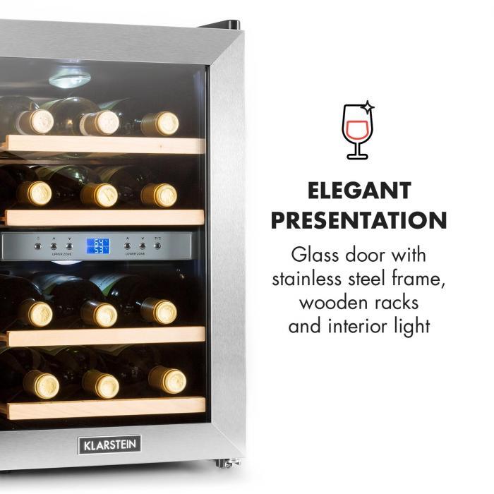 Reserva Garrafeira Refrigerada p/Vinho 34 Litros 12 Garrafas 2 Compartimentos