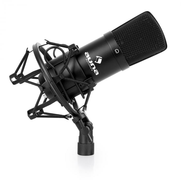 stage studio microphone set cm001b with microphone tripod and microphone shield. Black Bedroom Furniture Sets. Home Design Ideas