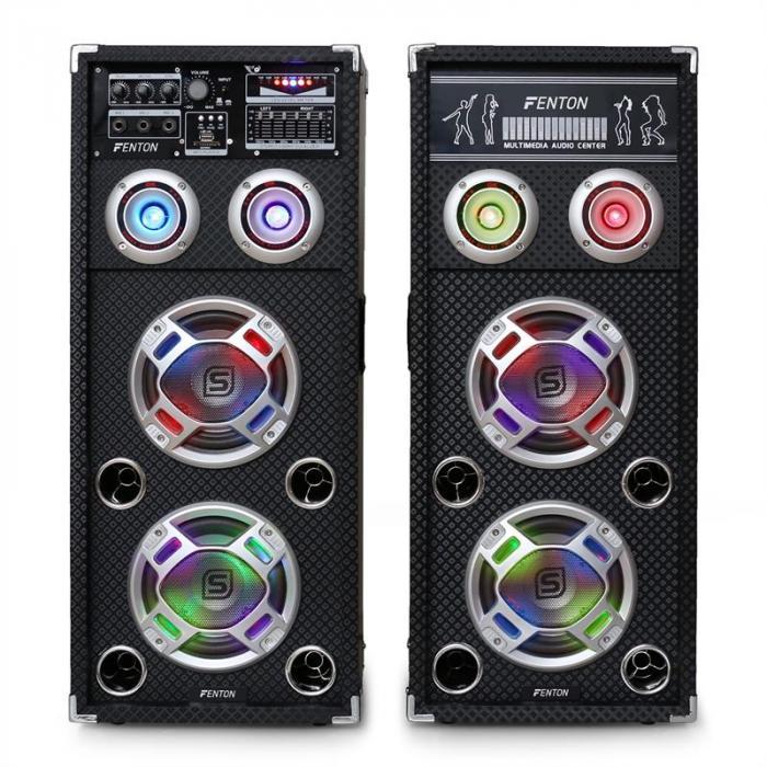 Skytec KA-26 set di altoparlanti karaoke 800W