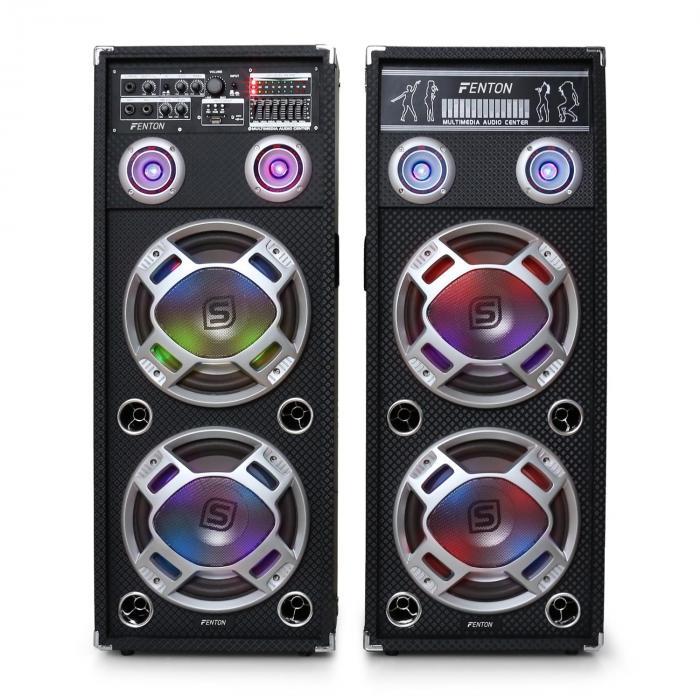 Skytec KA-210 Active Karaoke PA Speakers USB SD AUX