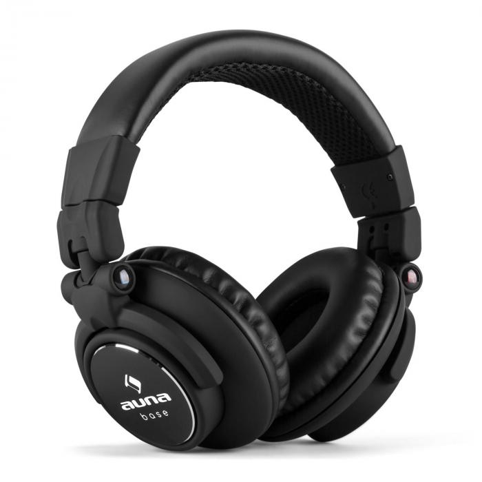 Base DJ Headphones Closed Foldable - Black
