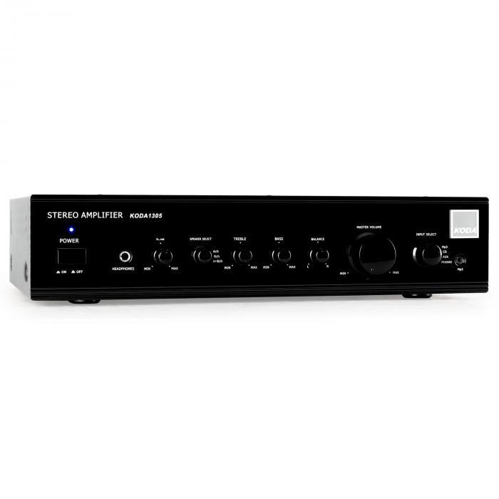 Black Sistema Hi-Fi e Cinema em Casa c/Amplificador e Altifalantes de Design em Preto