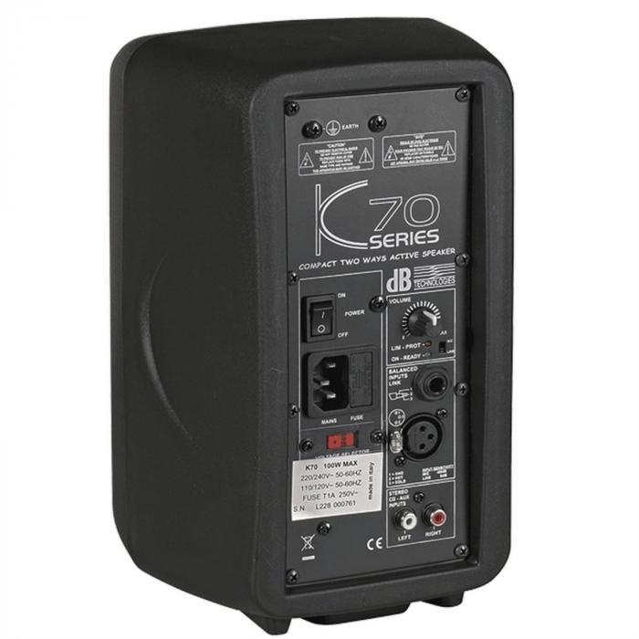 """K70 aktiver 5"""" PA-Lautsprecher 50 Watt RMS/100 Watt Peak"""