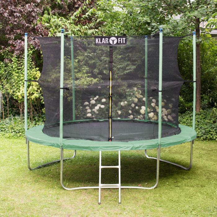 Rocketstart XXXL trampoline 400cm veiligheidsnet aluminium ladder regens