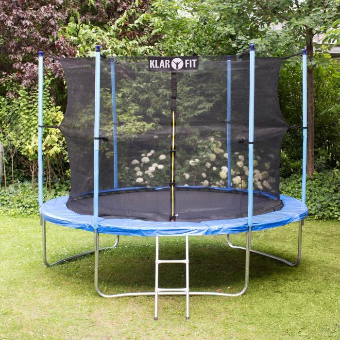 Rocketgirl XXL trampolino 305 cm rete sicurezza blu