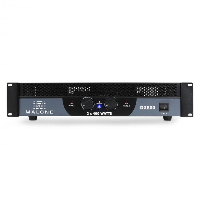 DX800 PA-vahvistin 800W silloitettava