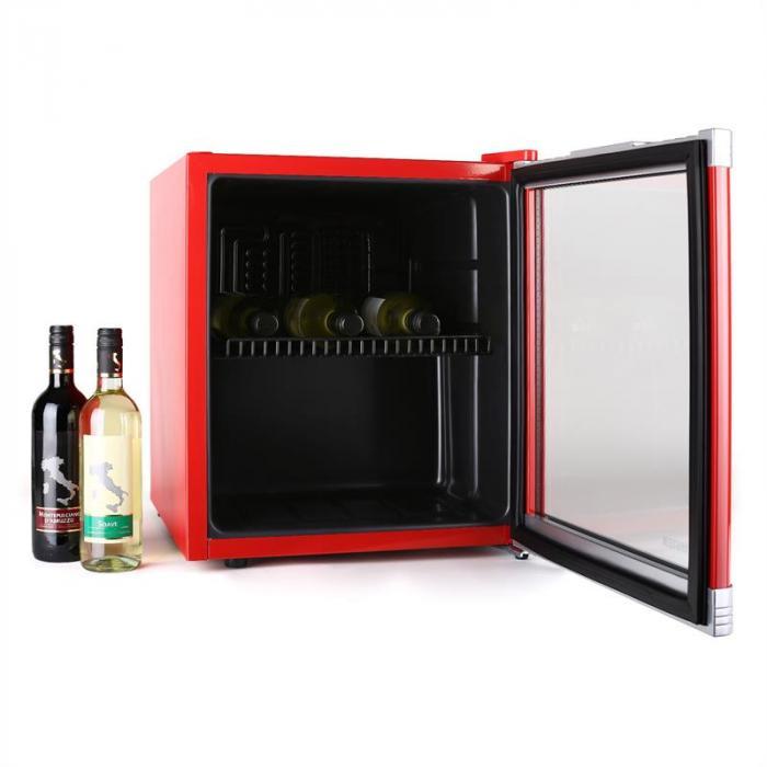 Coollocker Mini-Kühlschrank 46 Liter 15 Flaschen Klasse B rot Rot ...