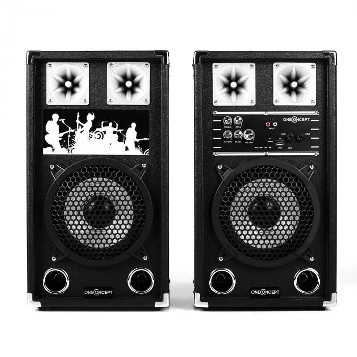 Set Karaoke PA 2 x Altoparlanti PA 2 x Radiomicrofoni